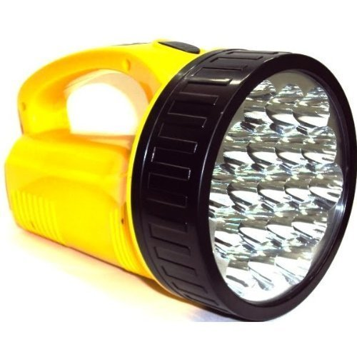 LScommerce® TORCIA 19 LED EMERGENZA LAMPADA LUCE RICARICABILE PORTATILE CAMPEGGIO - B / N Luce Di Emergenza