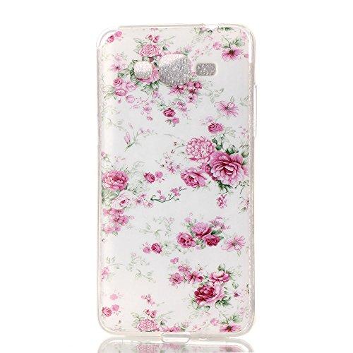 Qiaogle Telefon Case - Weiche TPU Case Silikon Schutzhülle Cover für Apple iPhone 6 / iPhone 6S (4.7 Zoll) - YH33 / Auge YH18 / Pink Mini Rose