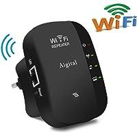 Répéteur WiFi 300 Mbps, Extenseur sans Fil Amplificateur de Signal du Réseau Support Mode Répéteur/Point d'accès Mini Routeur(WPS, Installation Facile,1 Port Ethernet, Antennes Intégrées, 2.4GHz)