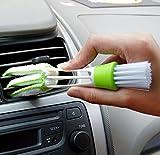 Udane Vehículo de dos cabezas con cepillo de limpieza de persianas verde