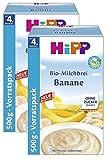 Hipp Bio-Milchbrei Banane 500g, 2er Pack (2 x 500g)