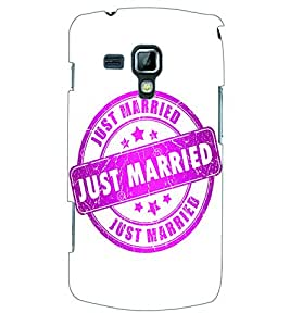 ColourCraft Just Married Stamp Back Case Cover for SAMSUNG GALAXY S DUOS 2 S7582