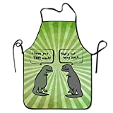 I Love You This Much Funny T-rex BBQ Kitchen Cooking Apron