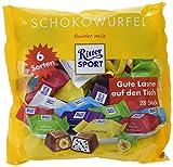 RITTER SPORT Schokowürfel Maxibeutel (11 x 222 g), Schokolade in 6 Sorten, Gefüllte Vollmilchschokolade mit Joghurt, Nüssen & Nougat, einzeln verpackt