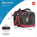 MILO & MISTY Fabric Pet Carrier - Lightweight Folding Travel Seat for Dogs, Cats, Puppies - Made of Waterproof Nylon and… 12
