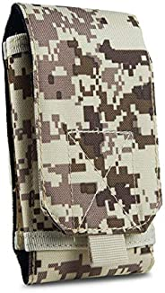 GoFree Tactical Pouch Sleeve Case with Belt Loop for Up to 6.2-inch Phone (Desert Camouflage)