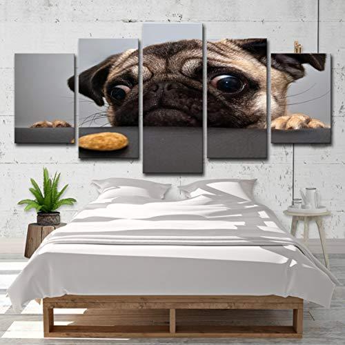 Niedlichen Gesicht Malen Ideen - lihaohao Fünf Gemälde5 Niedlichen Hund Gesicht