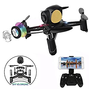 ESGOT S7 DIY RC Drone with Wifi HD Camera Remote Control Quadcopter Real-time Picture Transmission by ESGOTUK