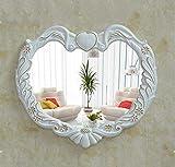 AAFEI Spiegel, Herzspiegel, Badspiegel, Wandspiegel, Kosmetikspiegel, Kosmetikspiegel, Wasserfester Spiegel,A