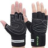 Fitness Handschuhe Gewichtheben Handschuhe mit Elastisch Handgelenkstütze Trainingshandschuhe...