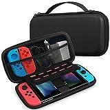 Fintie Tasche für das Nintendo Switch - SCHWARZE Aufbewahrungstasche / - Hartschalen Case / Cover / Hülle / Schutzhülle für die Nintendo Switch Konsole & Accesoires (Schwarz)