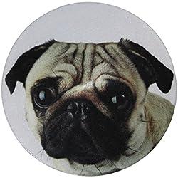 My Bumpy Images Tope para puerta/pisapapeles, para puerta, Carlino/Pug Dog, H 2,5cm, diámetro de 13cm, 2386