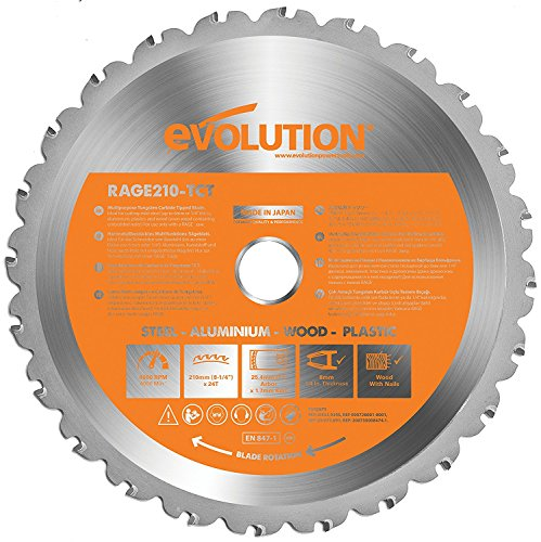 Carbide Rage Blade210 Mm Power Evolution Purpose Tools Multi Tipped kwO0nP8X