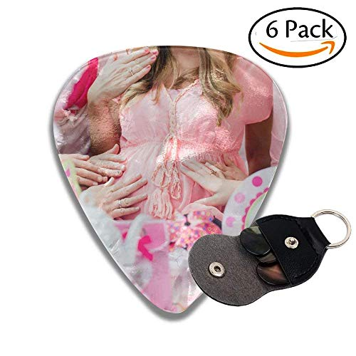 Best Friends On Baby Shower Party Celebrating Giving Kid Stuff As Present Stylish Celluloid Guitar Picks Plectrums For Guitar Bass .96mm 6 Pack