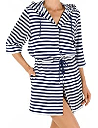Calida After Shower Frottee Kurz-Kimono mit Kapuze Länge 90cm Damen