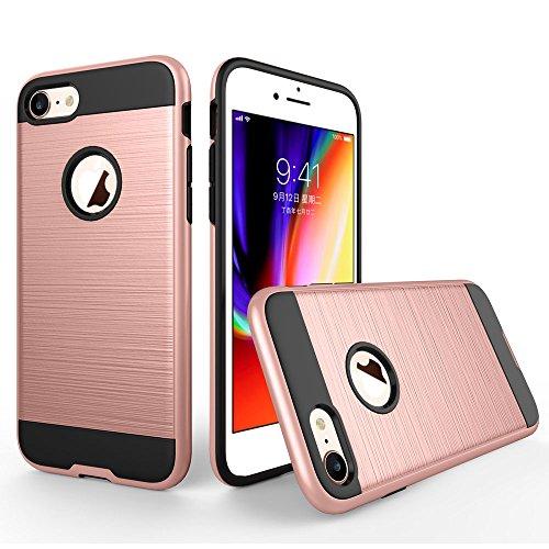 UKDANDANWEI iPhone 6 / 6s Étui,Coque Back Cover Rigide Antichoc Renforcée Housse de Protection Étui à rabat Case pour iPhone 6 / 6s - Rose Gold Rose Gold