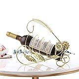 JX-wine rack Casiers et meubles à vin Européenne Décoration Vin Casier Vin Cabinet bouteille de vin Fer raisin plateau salon décoration créative porte-gobelet en métal, 6...