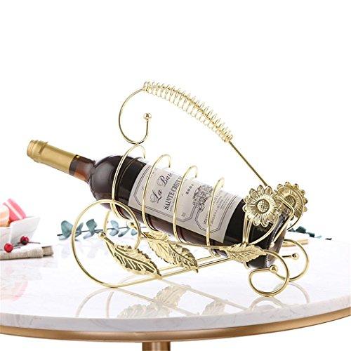 Traube Eisen (JX-wine rack Weinregale Europäische Dekoration Weinregal Weinschrank weinflasche Eisen Traube Regal Wohnzimmer Dekoration kreative Metall getränkehalter, 6)
