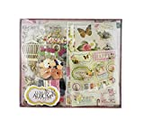 #6: Shopaholic Attractive Diy Album Maker For Craft and Scrapping Including 1 Album,15 Patterned Papers,1 3D Stickers,3 Die Cut Sheets,1 Wood Flowerishes,6 Embellishments