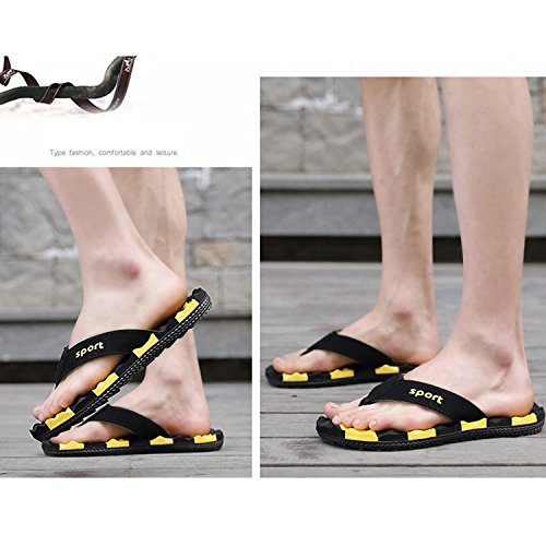 Chnhira Mens Estivo Infradito Sandalo Giallo