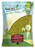Food to Live Frijoles mung Bio certificados (Eco, Ecológico, germinados, No OMG, Kosher, a granel) 4.5 Kg
