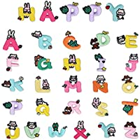 liuer Toppe Termoadesive Bambini, 52PCS Lettere Toppe Termoadesive A-Z dell'alfabeto Cucite su Patch Applique Toppe da…