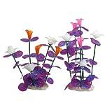 DealMux 2 Pezzi di plastica Peschiera Decorazione Floreale Plant, 9.4 Pollici, colorato