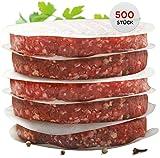 int!rend praktisches Burgerpapier für perfekte Burger Patties | 500 Stück Wachspapier 11 cm Durchmesser | Hamburger Papier gewachst zum Grillen Braten| Antihaftpapier | Premium Grillzubehör