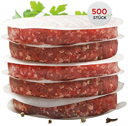 51Wn Aox7YL - int!rend praktisches Burgerpapier für Perfekte Burger Patties | 500 Stück Wachspapier 11 cm Durchmesser | Hamburger Papier Gewachst Zum Grillen Braten| Antihaftpapier | Premium Grillzubehör