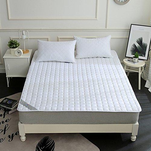 HYXL Matratzenbezug Pad Geldklammer,Hotel Anti-Rutsch Matratzenschoner Pad Gefaltete Schlanke Kühlung-matratzenauflage Waschbar-Weiß 135x200cm(53x79inch)