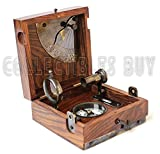 Six Instrument Marine Master Box - Compass Telescope Scale Chart Spirit Level Alidade by Collectibles Buy