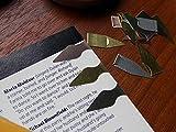 Mischung aus Lesezeichen von Book Darts (Silber, Gold, Bronze) 50Dosen