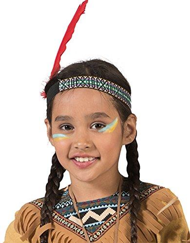 mágica Clown-Indios plumas Bunter cabeza joyería Niños Pelo Banda sin peluca indios Disfraz Muelle joyas, multicolor