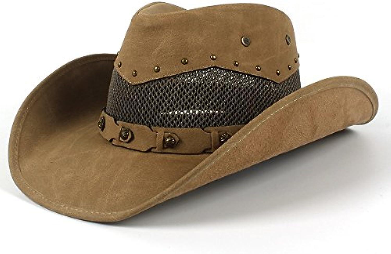 Cappello da Cowboy Western in Pelle da Uomo con in Cappelli in con Maglia da  Padrino cdf9b53c1094