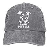 CrownLiny Love My Pitbull-1 Vintage Jeans Baseball Cap for Men and Women