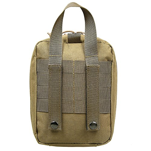 xhorizon TM Molle Medical EMT Erste Hilfe Tasche Tasche Wasserdichte Nylon Tactical Erste Hilfe Tasche Military Utility Beutel khaki+khaki Cross
