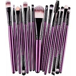 99L'amour Pinceau de maquillage pas cher de haute qualité,Professional 15Pièces Maquillage Set de Brosse Maquillage Kit de Toilette Set de Brosse (Violet)