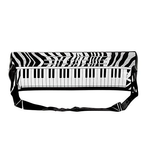 80 Kostüme Rockstar (Gummi Klavier 80er Jahre Party E-Piano mit Gurt Rockstar Luft Piano Aufblasbares Keyboard Karneval Kostüm Accessoires Mottoparty Musikinstrument aufblasbar Luftpiano Instrument)