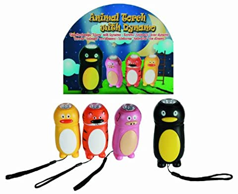 Boy Child Boys Children Penguin Dynamo Torch with LED Light- Eco friendly - Best Selling Christmas Xmas Top Up, Stocking Filler Gift Games & Toys Age 3+ - One