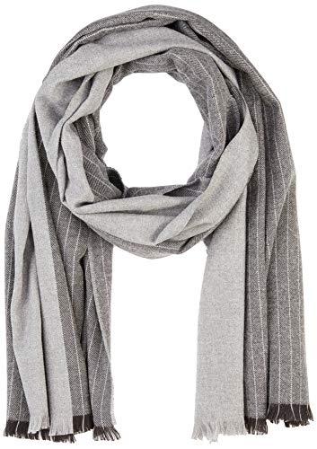 BOSS Herren Scarf-Pin-Stripe Schal, Grau (Medium Grey 031), One Size (Herstellergröße: STÜCK)