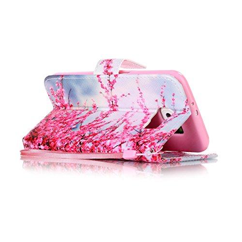 für Smartphone Samsung Galaxy S6 Hülle, Klappetui Flip Cover Tasche Leder [Kartenfächer] Schutzhülle Lederbrieftasche Executive Design +Staubstecker (7OO) 9
