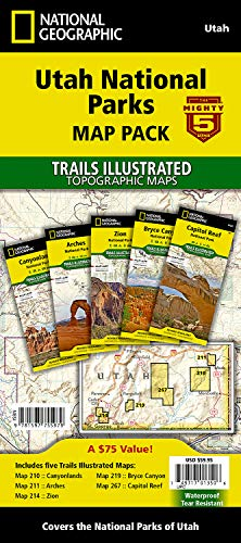 Utah National Parks [map Pack Bundle] Adventure Map (National Geographic Trails Illustrated Topographic Map)
