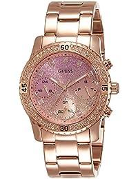 Guess Damen-Armbanduhr Analog Quarz Edelstahl W0774L3