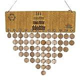 Baoblaze Immerwährender Geburtstagskalender DIY Kalender mit Rund Holzscheiben - Typ 1