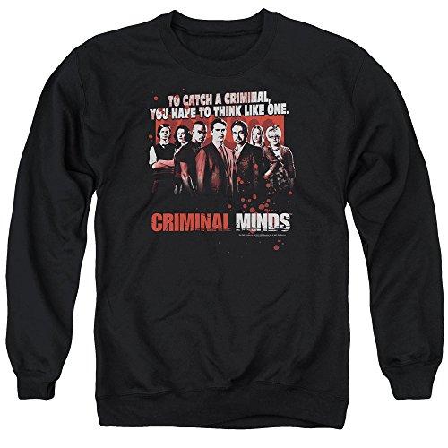 Criminal Minds TV Show CBS Think Like One Adult Crewneck Sweatshirt
