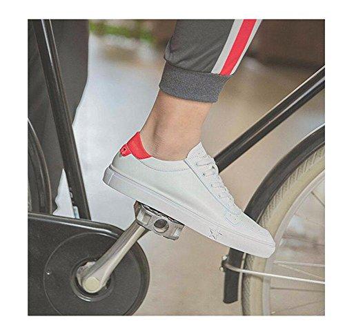 SHIXR Männer Lace-Up Flats Skateboard Schuhe Kleine weiße Schuhe Sommer Hollow Breathable Freizeit Schuhe Driving Schuhe Weiche Leder Schuhe Red