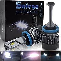 H11 LED Faro Bombillas Kit - Safego 60W LED LED Chips 10000LM LED Coche Kit de Conversión Reemplazo Para Lámparas Halógenas o Bombillas HID 12V MiniHL-H8911