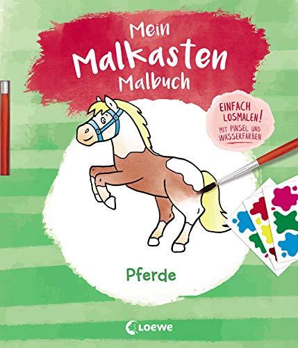 Mein Malkasten-Malbuch - Pferde: Einfach losmalen! Mit Pinsel und Wasserfarben