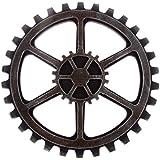 ULTNICE Vintage Steampunk Gear Sculpture Wall Hanging Decoración negro 24 cm