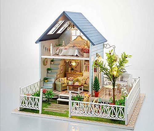 XUXIAOXU666-Houses Puppenhaus handgemachte DIY Kabine Modell Villa Weisheit Hausgarten Stil Haus kreative Geburtstagsgeschenk